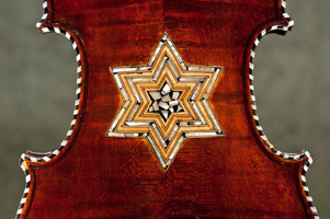 Violin back with MOP inlay star